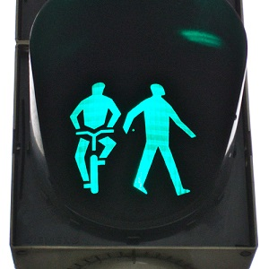 green man on traffic light