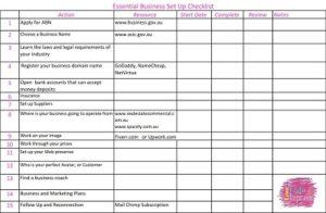 Business Set Up Essentials Checklist