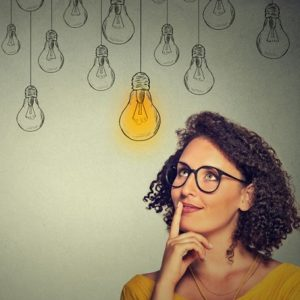 woman planning new business
