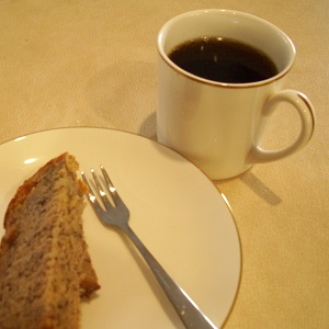 Banana Cake and Cup of Coffee