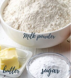 Ingredients to make Sweetened Condensed Milk
