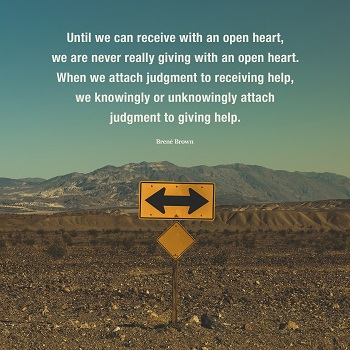 Open heart quote by Brene Brown