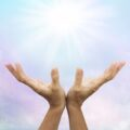 Healer hands Lightworker concept