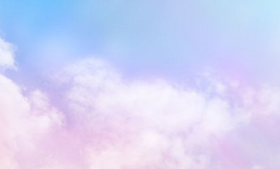 Pink clouds and blue skies Healing concept