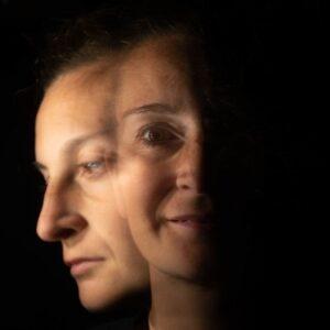 portrait of woman shadow self concept