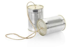 can telephone communication concept