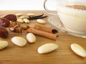 warm almond milk with spices