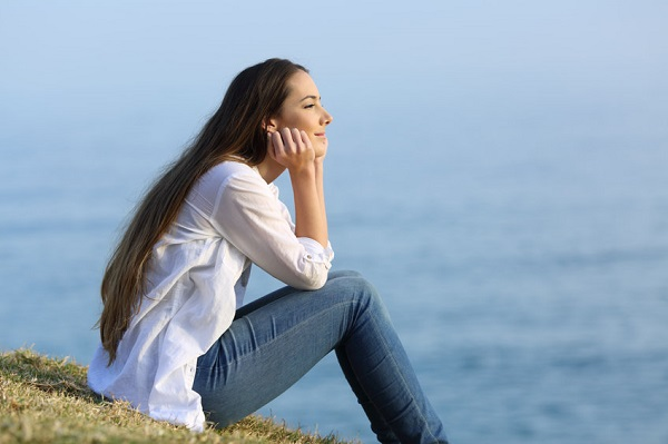 woman thinking about the future