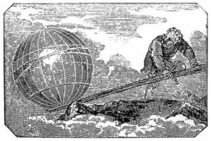 Artist's Impression Archimedes Invents the Lever