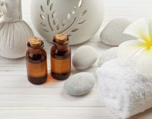 Essential oils in spa pack