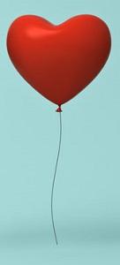 Red heart balloon Integrity concept